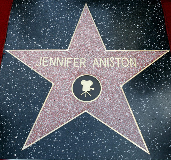 Jennifer Aniston got a star on the Walk of Fame!