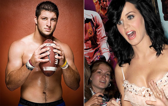 Katy Perry and Tim Tebow