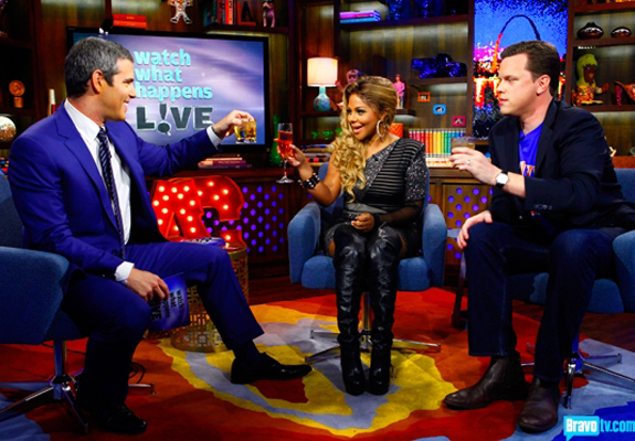 Andy Cohen, Lil' Kim and Willie Geist