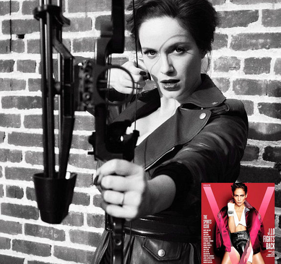 Christina Hendricks knows how to handle her weapons!