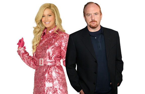 Ashley Tisdale and Louis C.K.
