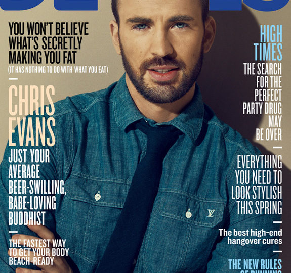Hottie Chris Evans covers Details