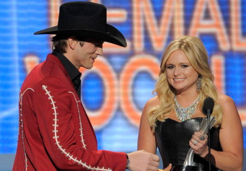 Ashton Kutcher and Miranda Lambert