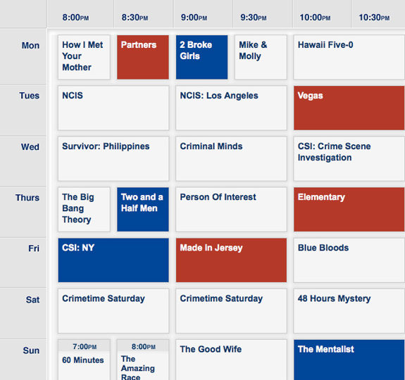 Finally, here's CBS's fall schedule!