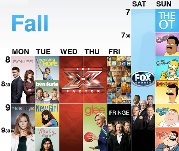 FOX Fall 2012 Schedule