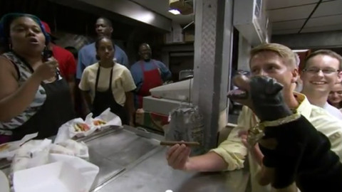Jack McBrayer and Triumph the Insult Comic Dog