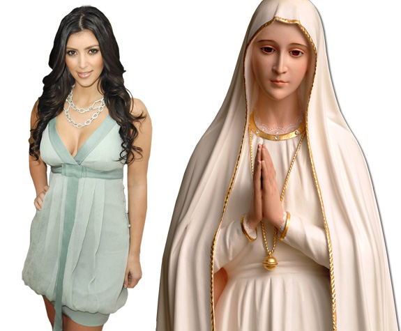Kim Kardashian and Virgin Mary