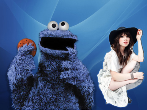 Cookie Monster and Carly Rae Jepsen