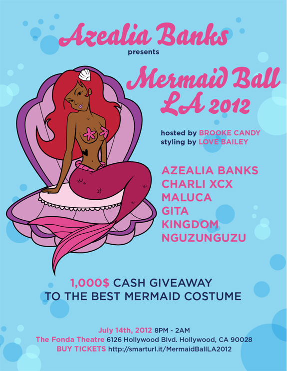 Azealia Banks - Mermaid Ball - Los Angeles