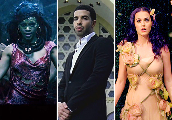 Rihanna, Drake and Katy Perry