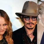 Vanessa Paradis, Johnny Depp and Amber Heard