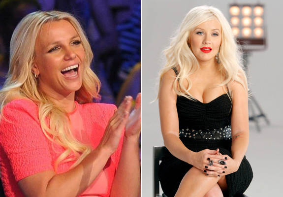 Britney Spears and Christina Aguilera