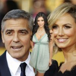 George Clooney, Stacy Keibler and Kim Kardashian