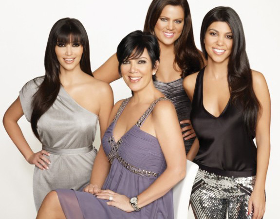 Kim, Kourtney, and Khloe Kardashian with Kris Jenner