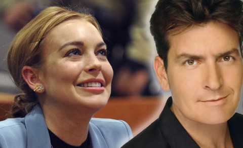 Charlie Sheen and Lindsay Lohan