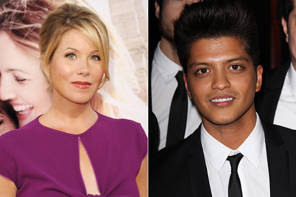 Christina Applegate and Bruno Mars