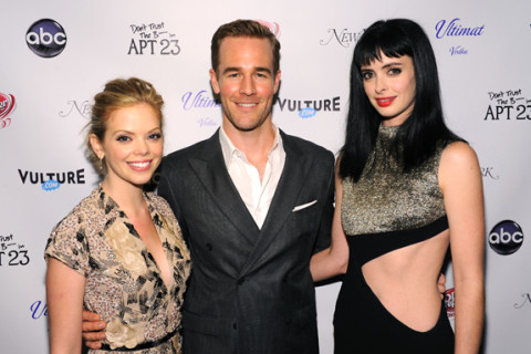 Krysten Ritter, Dreama Walker, and James Van Der Beek
