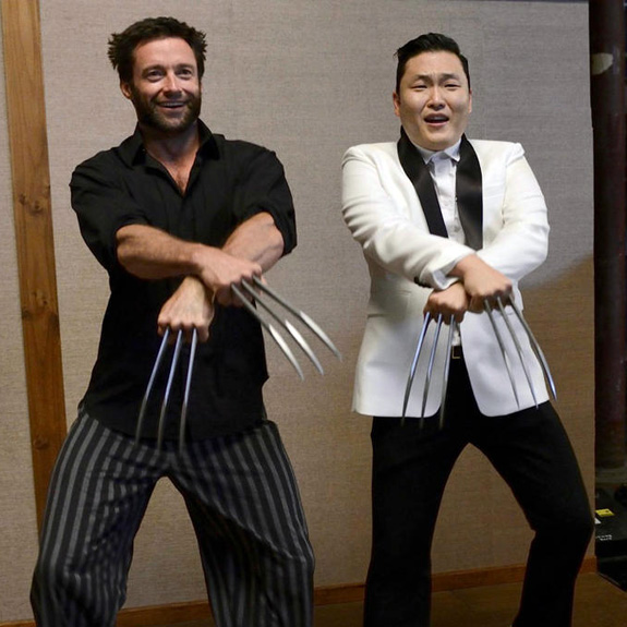 Hugh Jackman and Psy