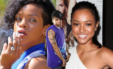 Rihanna, Karrueche Tran and Chris Brown