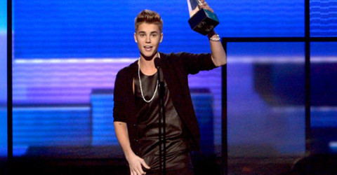 Justin Bieber at the 2012 American Music Awards