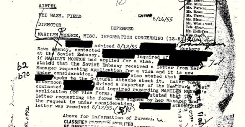 Marilyn Monroe's FBI file