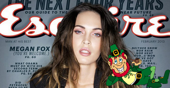 Megan Fox believes in leprechauns!