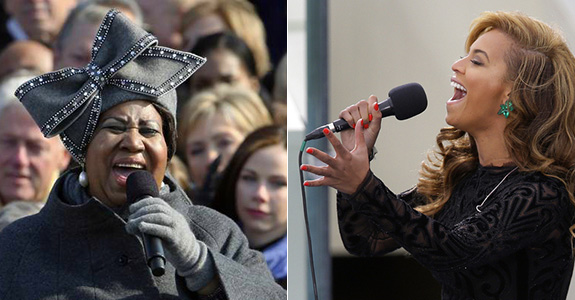 Aretha Franklin and Beyoncé
