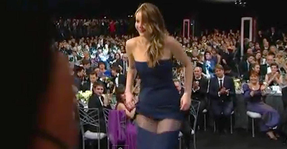 Jennifer Lawrence's wardrobe malfunction … or not?