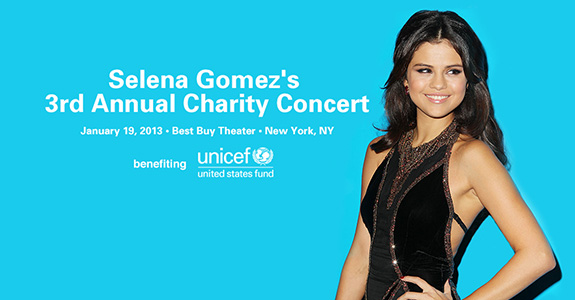 Selena Gomez headlines UNICEF concert in NYC!