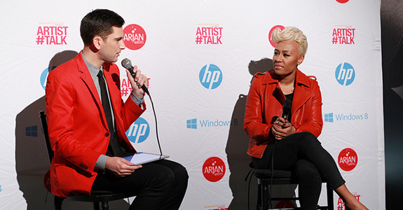 Emeli Sandé and Arjan Timmermans