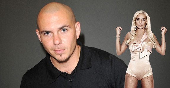 Lindsay Lohan and Pitbull
