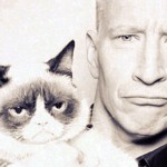 Anderson Cooper and Grumpy Cat