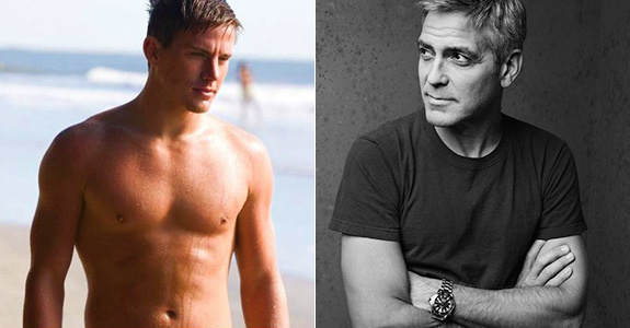 Channing Tatum would have sex with George Clooney!