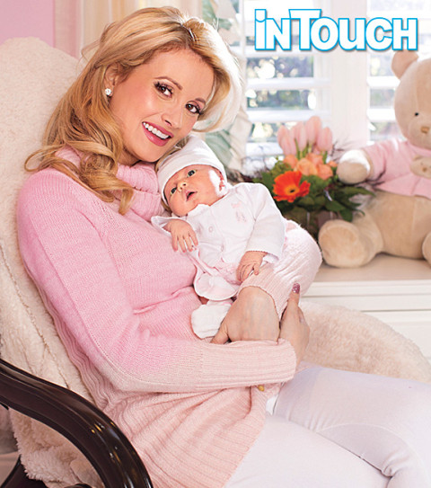 Holly Madison and baby Rainbow Aurora