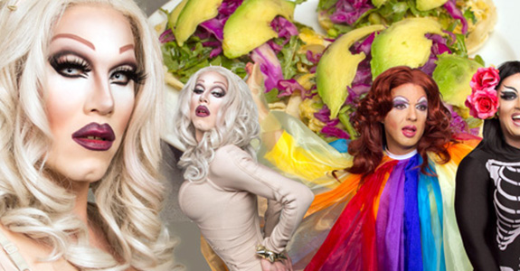 It's Friday, so here's Sharon Needles making tacos!