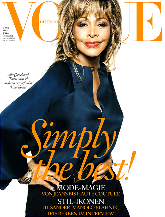 Tina Turner for German Vogue