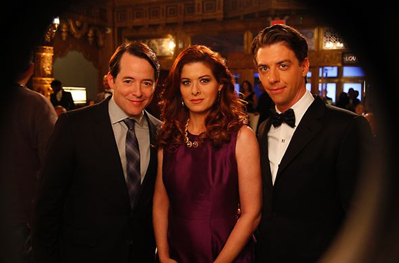 Matthew Broderick, Debra Messing and Christian Borle