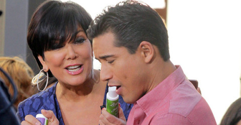 Kris Jenner and Mario Lopez