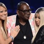 Mariah Carey, Nicki Minaj and Randy Jackson