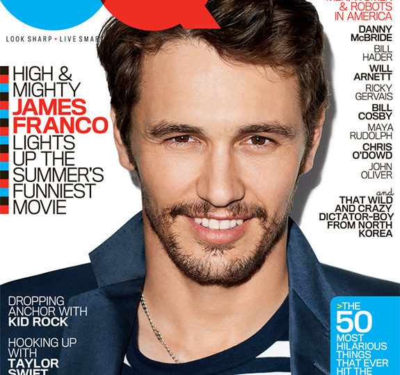 James Franco covers GQ's comedy issue!