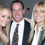 Lindsay, Michael and Dina Lohan