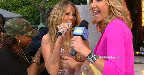 "Mariah Carey: ""Oh sh!t!"" on 'Good Morning America'"