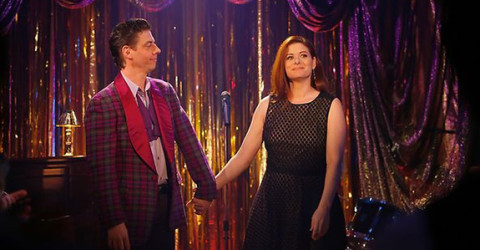 Christian Borle and Debra Messing