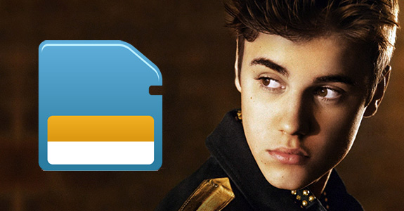 Justin Bieber and the case of the stolen memory card!