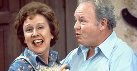 Jean Stapleton and Carol O'Connor