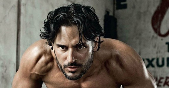 Oh hey, Joe Manganiello. Working out shirtless I see?