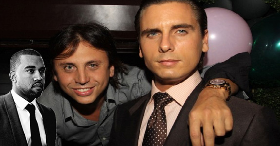 Kanye West, Scott Disick and Jonathan Cheban
