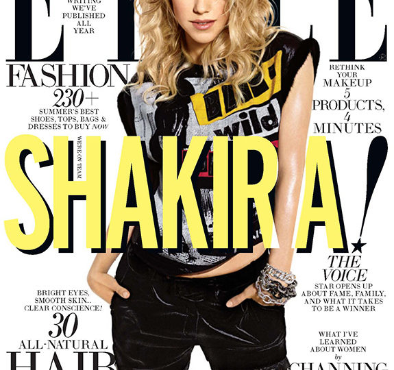 In case you were wondering … that's Shakira on Elle!
