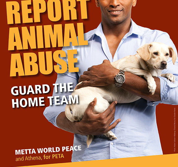 Metta World Peace: Report Animal Abuse!