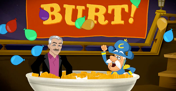 Cap'n Crunch interviews Burt Reynolds!